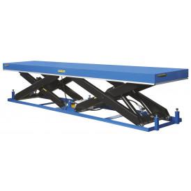 Table élévatrice électrique hydraulique à doubles  ciseaux horizontaux