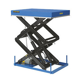 Table élévatrice électrique hydraulique à doubles  ciseaux superposés