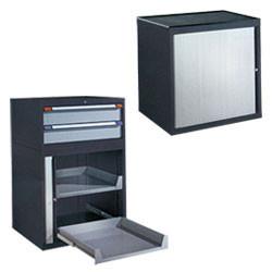 Armoire à tiroirs fermeture par rideau
