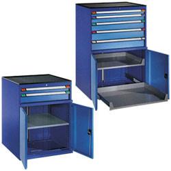 Armoire à tiroirs fermeture par portes battantes
