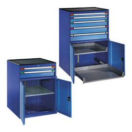 Armoire à tiroirs avec portes battantes pour professionnels
