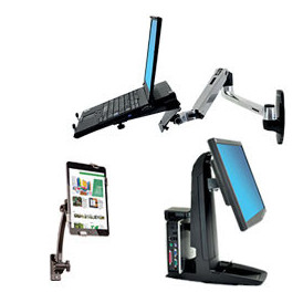 Support ordinateur fixe, portable et tablette