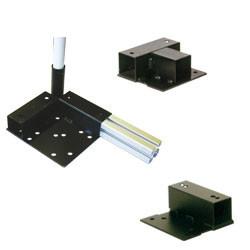 Platine support roulettes pour profilé aluminium