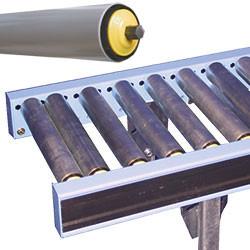 Convoyeur gravitaire à rouleaux libres PVC (axes hexagonaux Ø 11 mm)