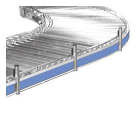 Convoyeur courbe motorisé à rayon intérieur faible pour gain de place