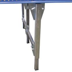 Piétement acier du portillon à rouleaux motorisés