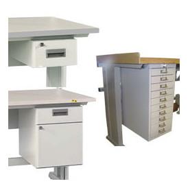 Bloc-tiroirs suspendu pour petit matériel