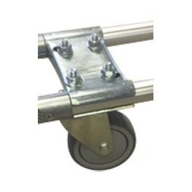 Embase pour tube aluminium