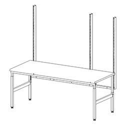 Structure table d'emballage montant perforés