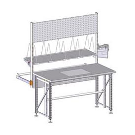 Poste d'emballage structure en profilés aluminium