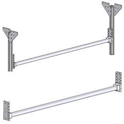 Support rouleau d'emballage fixation sur montants profilés aluminium