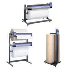 Dérouleur de papier d'emballage et système de coupe