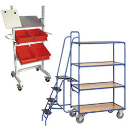 Chariot de préparation de commande et desserte de conditionnement