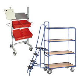 Dessert de conditionnement et chariot de préparation commande