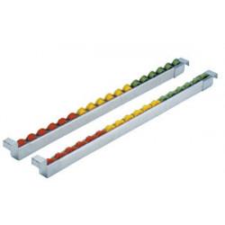 Rail à galets plastique sur profilé aluminium pour tube aluminium