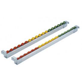Rail à galets plastique sur profilé aluminium
