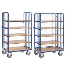 Chariot haut à plateaux pour emballage et préparation de commande