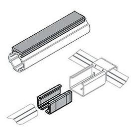 Rail glissière pour tube aluminium