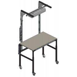 Table de travail hauteur réglable 4 pieds en acier