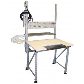 Poste de travail ergonomique hauteur fixe DPAL compatible Treston