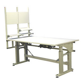 Poste de travail ergonomique industriel motorisé