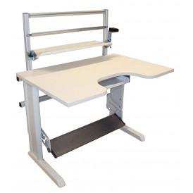 Poste de travail ergonomique piètement acier à hauteur réglable