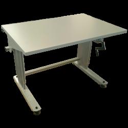 Poste de travail hauteur réaglable à manivelle TPALM montants profilés aluminium