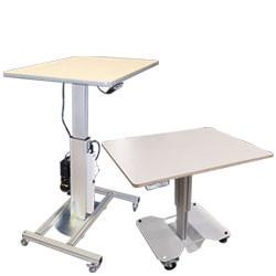 Table de travail monocolonne hauteur ajustable