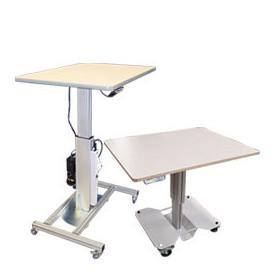 Table de travail électrique monocolonne