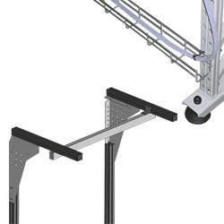 Support éclairage et passage de câble sur profiles aluminium