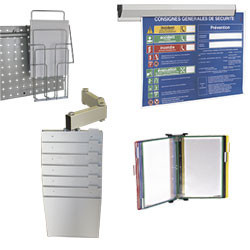 Support document et affichage sur profilés aluminium