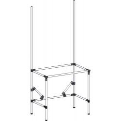 Structure tube Lean hauteur fixe simple cadre
