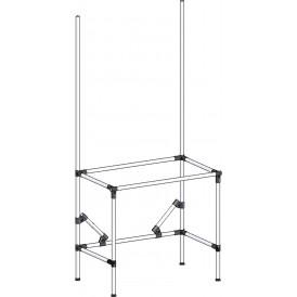 Poste de travail ergonomique hauteur fixe - Structure tube hauteur fixe avec simple cadre
