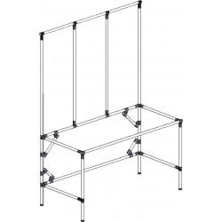 Structure tube Lean hauteur fixe triple cadre