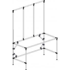 Poste de travail ergonomique hauteur fixe - Structure tube avec triple cadre