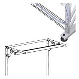 Support éclairage - câble management pour poste de travail tube Lean