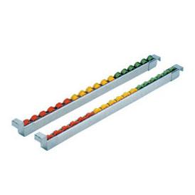 Rail à galets sur profil aluminium pour approvisionnement dynamique