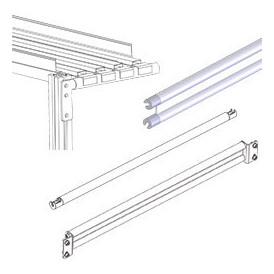 Traverse support nappe pour rayonnage dynamique en profilés aluminium