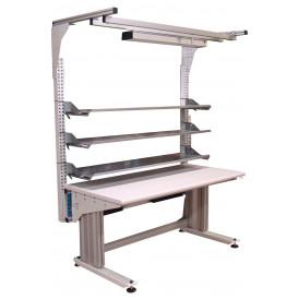Poste de travail réglable électrique ergonomique industriel