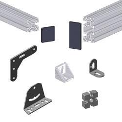 Fournitures pour structures en profilé aluminium