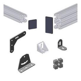 Outil de fixage pour structure en profilés aluminium