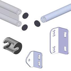 Fourniture pour rayonnage dynamique en tube aluminium