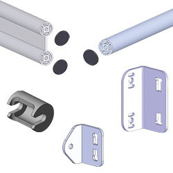 Fourniture pour structure en tube aluminium