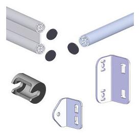 Fournitures pour structures en tube aluminium