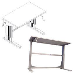 Table à manivelle hauteur ajustable