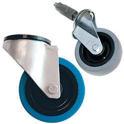 Roulette pour rayonnage dynamique en tube aluminium