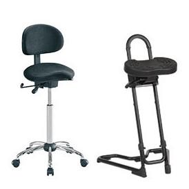 Siège assis-debout de travail pour les professionnels