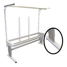 Poste de travail ergonomique hauteur réglable à montants perforés