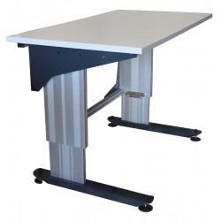 Poste de travail hauteur réglable TPALR montants profilés aluminium