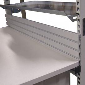 Dosseret pour postes de travail avec cadre profilés aluminium